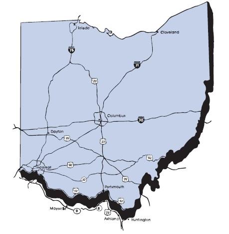 shawnee state university campus map Campus Map How To Get To Shawnee State University Shawnee shawnee state university campus map